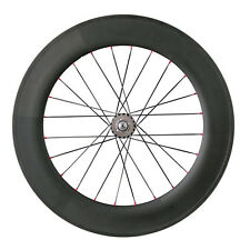 700C carbon track clincher bike wheel 88mm,only rear wheel,fixed gear