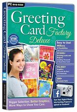 GREETING CARD FACTORY 9 DELUXE - PC SOFWARE FOR CARDMAKING PROJECTS - NEW