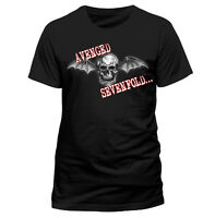 Official Avenged Sevenfold - Bat Skull Glow -  Men's Black T-Shirt