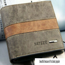 Fashion Bifold Mens Leather Wallet Credit ID Card  Multi Pockets Clutch Purse