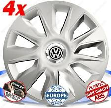 SET 4 BORCHIE RUOTA COPRI CERCHI STRATOS SILVER 15 VW GOLF PLUS