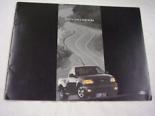2001 FORD SVT F-150  LIGHTNING  PICKUP SALES BROCHURE