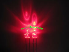 100pcs, 2mm Red Water Clear LED Round Top Leds Light + Resistors for 12V New