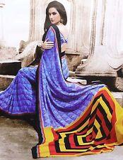 Indian Traditional Party Sari Designer Bollywood Wedding Saree Dress 5881