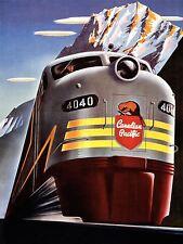 ART PRINT POSTER ADVERT TRAVEL TRAIN RAIL PACIFIC CANADA MOUNTAIN NOFL0560