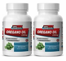 Oregano Oil 1500mg - Supports Respiratory - Digestive and Joint Health Caps 2B
