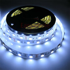 Cool White 5M 300 leds 5050 SMD Flexible LED Strip Lights Indoor Lamps Roll 12V