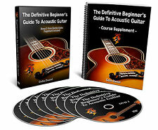 Definitive Beginner's Guide To Acoustic Guitar - Premium Guitar Lessons DVD Cour