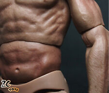 """New 1/6 Scale 12"""" Muscular Club Action Figure Nude Body for Hot Toys Head Sculpt"""