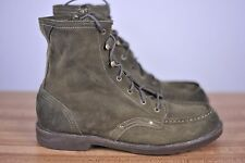 BED-STU Destination Boots Side Zip Suede Green Sz Men's 13