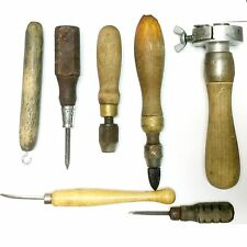 7 Vintage Old Engraving Carving Tools Jewelry Leather