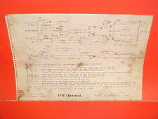 1959 CHEVROLET BISCAYNE BELAIR IMPALA CONVERTIBLE WAGONS FRAME DIMENSION CHART