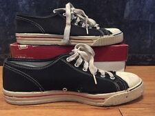 Vintage 50s Converse Full Sponge Insole Canvas Basketball Black Low-Top Shoes.