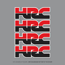 2361 -  4 x HONDA HRC Decals Stickers - Honda Racing Corporation - 50mm x 17mm