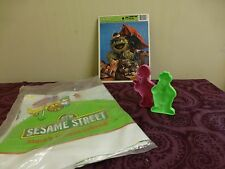 Lot Vintage Seseame Street Items Puzzle Elmos play mat  Playdoh Cookie Cutters