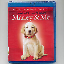 Marley & Me 2008 PG comedy dog movie, new 3-disc Blu-ray DVD O Wilson, J Aniston
