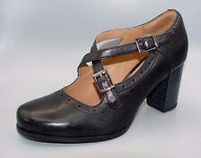 """""""CIERA SEA""""Clark's Women's/Ladies Black Leather Shoes size 4 D."""