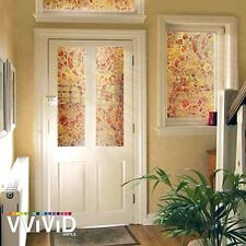 "36"" x 6ft VViViD Warm Mosaic Frosted Privacy Vinyl Window Film Home Glass Decor"