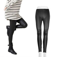 Black Fashion Style  Women Sexy Wet Look Shiny Faux Leather Leggings Pants OEG