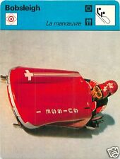 FICHE CARD: E.Schaerer et J. Benz Winter sport Bobsled Bobsport Bobsleigh 70s
