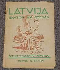 LATVIJA SKATOS UN DZEJĀS S.SKARA STUTTGART 1946 LATVIAN EXILE EMIGRATION BOOK