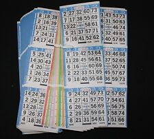 BINGO PAPER Card 3 on 8 Blue Bdr 50 packs FREE PRIORITY SHIP