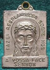 """HOLY FACE """"VERONICA'S VEIL"""" / IHS IN HALO Old MEDAL 25mm"""