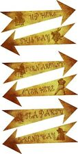 Party Arrows Alice in Wonderland party decoration large set of 8
