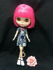 "12"" Factory Type Neo Blythe Doll Short Pink Hair- Includes Outfit &Shoes  J003"