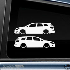 (1021) 2x Fun Sticker Aufkleber /  Low and Slow Opel Astra J Sports Tourer  opc