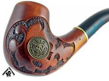 UNIQUE HAND CARVED Tobacco Smoking Pipe/Pipes *LANCELOT* for 9mm Filter + GIFT!