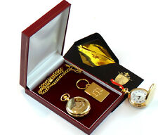 JUSTICE SCALES Keyring & Pocket Watch Gift Set Solicitor Business Police Judge