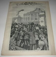 APRIL 28 1888 NEWSPAPER - THE GRAPHIC - MOVING THE BRIGHTON BEACH HOTEL PICTURE