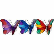 Multi Coloured Stained Glass Effect Butterfly Suncatcher Window with Suction Cup