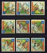 s5161) GUINEA ECUATORIAL 1974 MNH** WC Football -Coppa Mondo Calcio 9v IMPERF