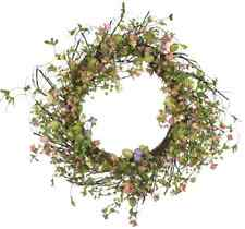 "Valerie Parr Hill Collection 24"" Egg & Wildflower Spring/Easter Wreath-Grapevine"