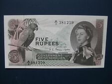 SUPERB 1968 SEYCHELLES 5 RUPEES BANKNOTE (AFRICA) FRESH UNC