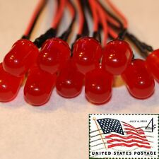 10x 10mm Red Diffused Round LEDs Pre Wired 12v Light Lamp LED USA