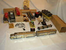 AMERICAN FLYER TRAIN SET 5007 SANTA FE CHROME DIESEL FREIGHT READY TO RUN #SS-35