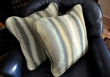 LA-Z-BOY ACCENT PILLOWS WITH ZIPPER BOTTOM - LOVELY MUTED SHADES OF GREEN - NEW