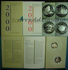 ITALIA VERSO IL 2000 DUEMILA DITTICO  10000 + 10000 LIRE  ARGENTO PROOF FS