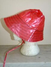 Job Lot 30 PVC Rain hats Fishing Hat Shiny Red Plastic Waterproof Wholesale
