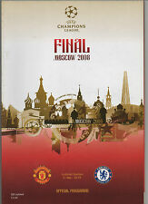 Orig.PRG   Champions League 07/08  FINAL  MANCHESTER UNITED - CHELSEA FC !! RARE