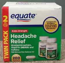 Equate Extra-Strength Headache Relief Caplets, 200 ct, Aspirin, Caffeine