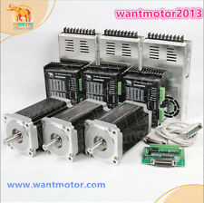 Free to EU! 3Aixs CNC kit Wantai Nema34 Stepper Motor 1600oz-in 6A&Driver 7.8A