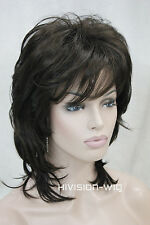 Natural Type Dark Brown Short Women ladies Daily Full wig Hair TLC158