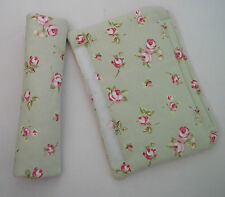 Sage Rose Shabby Chic VW Campervan, Van, Truck or Car Seat Belt Cover Pad - x 2