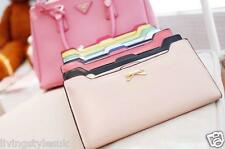 PL Women's Soft Leather Bowknot Clutch Wallet Long Card Purse for iphone 6 &6+