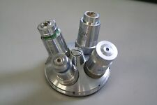 Vickers Microscope Objective Nosepiece Turret + 4 objectives 10x 20x 40x 100x