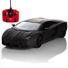 RC REMOTE CONTROLLED CAR 1.24 BLACK LAMBORGHINI AVENTADOR KIDS TOY NEW GIFT